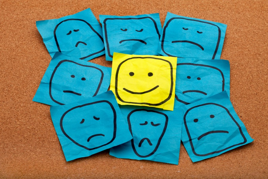 positive attitude concept on cork board